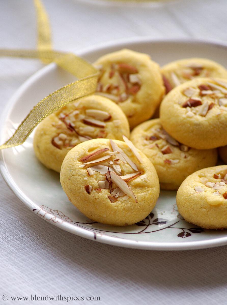saffron cookies, eggless cookies for diwali, diwali cookies recipes