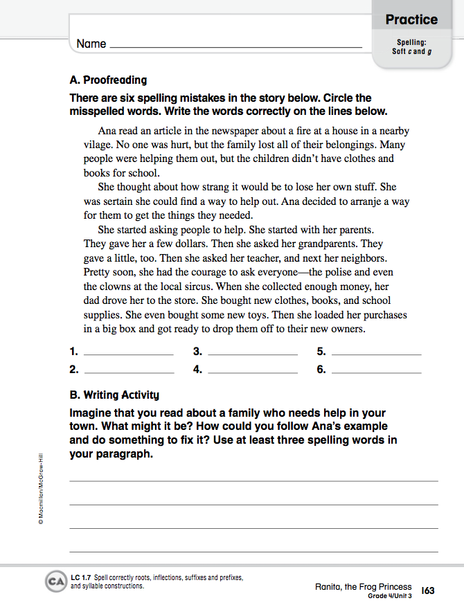 Homework 2012-2013: April 10 - Language Arts Worksheets