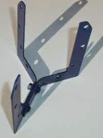 estructura de soporte con escuadras planas