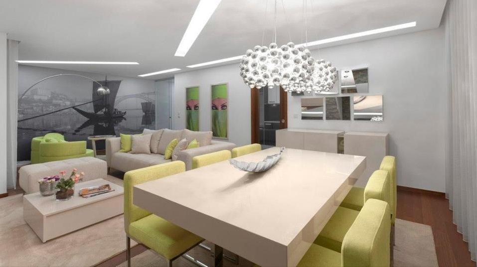 Sala de estar e de jantar  Inspirações  O Teu Casamento de Sonho