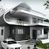 Desain rumah mewah minimalis modern 2 lantai Model Terbaru