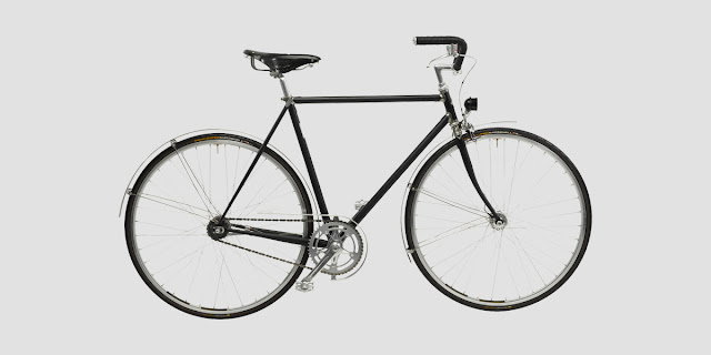 vickers bicycle handmade the english roadster, black single speed bike, fixed gear bike, handmade bike, black frame roadbike, made in london, london bike shop