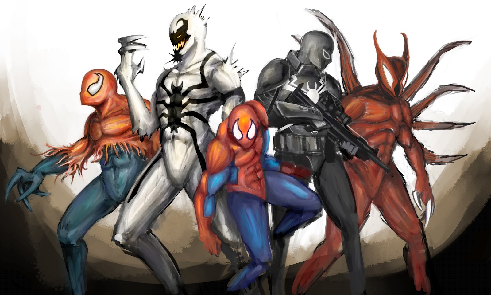 Venom Vs Antivenom Anti-venom, spidey, venom,