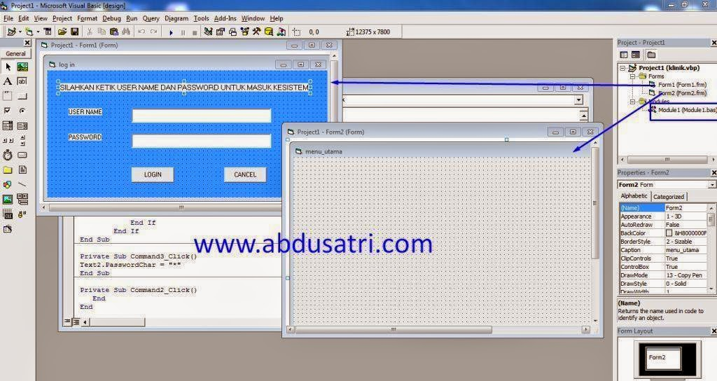 source code form login di visual basic (VB)