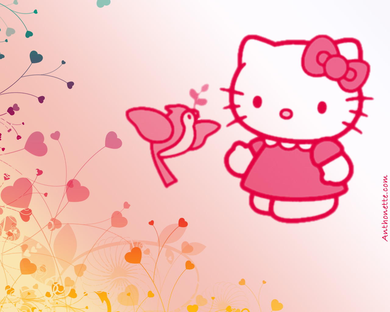 hd free desktop background hello kitty desktop background