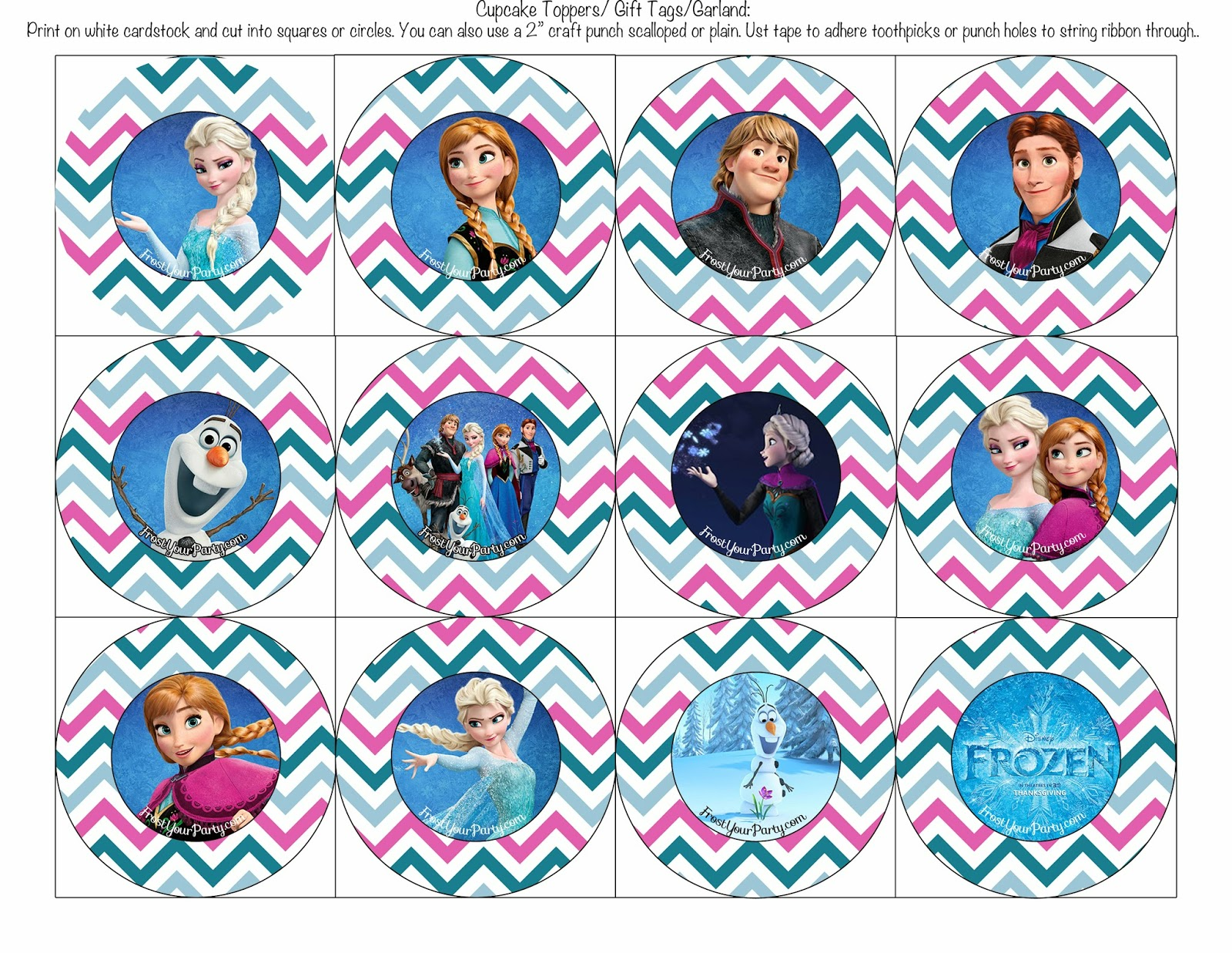 ... Frost Your Party: Free Disney Frozen Printable Party Decorations
