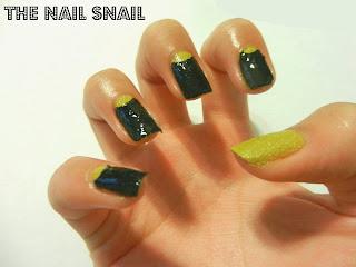 halfmoon nail art