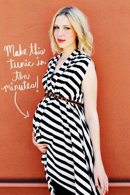 10 mins maternity tunic DIY
