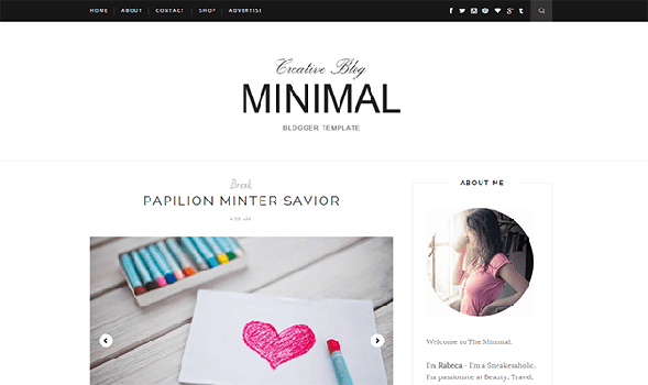 Minimal-Responsive-Blogger-Template