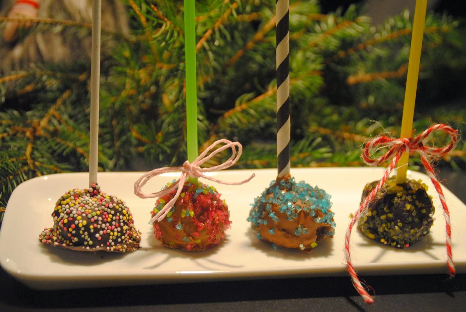 chokladbollar på pinne