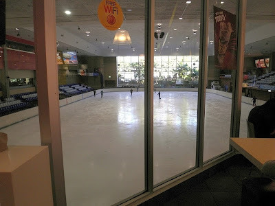 ice rink at Macquarie shopping centre
