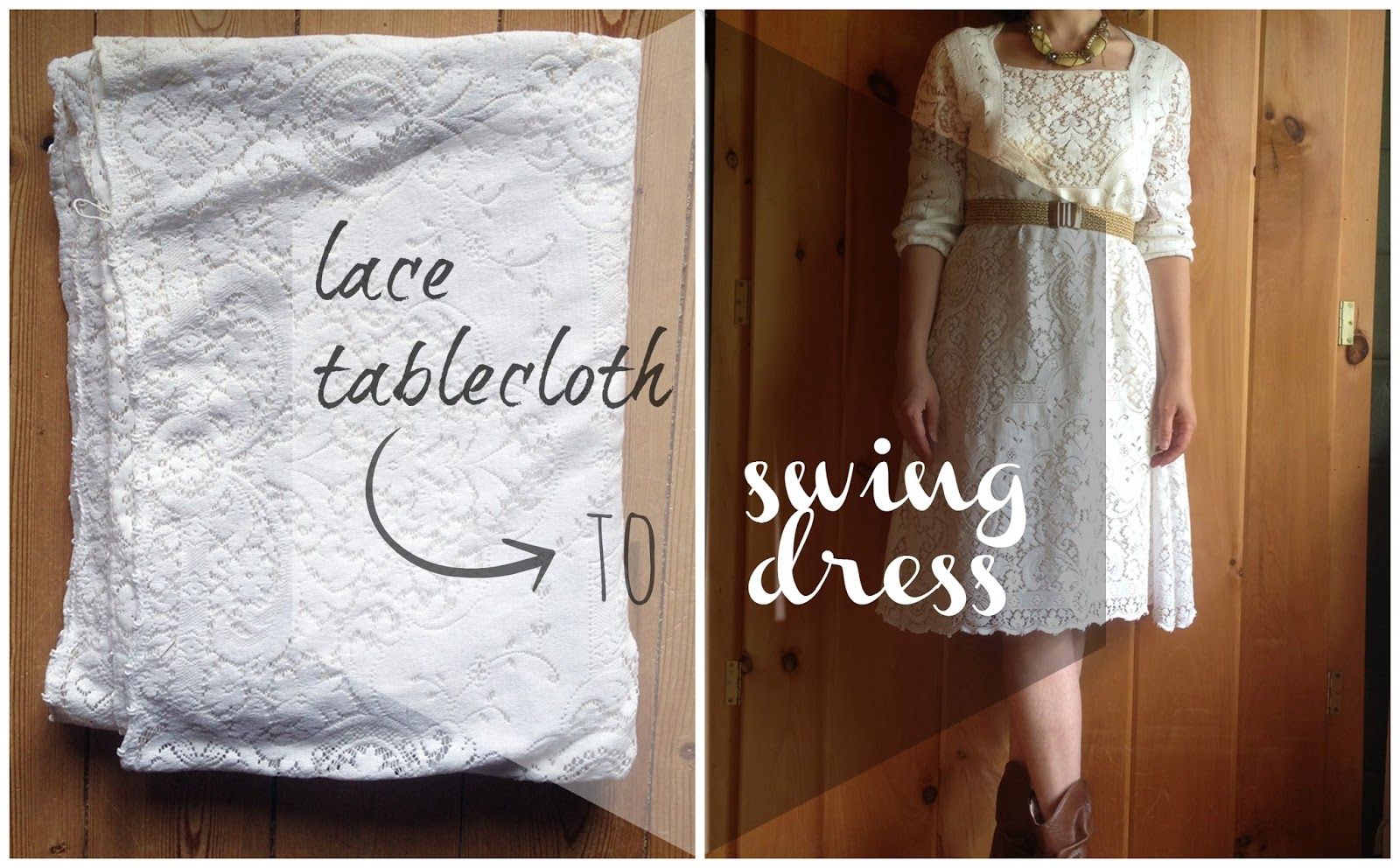 White tablecloth dress