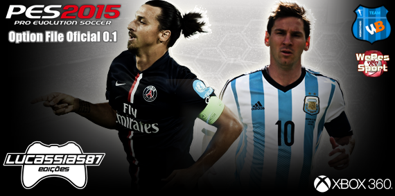 Option File Oficial 0.1 by Lucassias87 PES 2015 Xbox 360