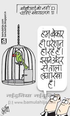 CBI, supreme court, corruption cartoon, upa government, congress cartoon, indian political cartoon