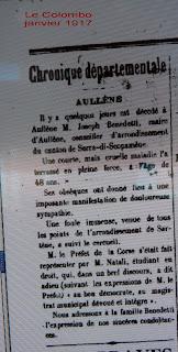 Hommage Joseph Benedetti