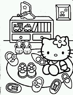 Dibujos de Hello Kitty para Pintar, parte 3