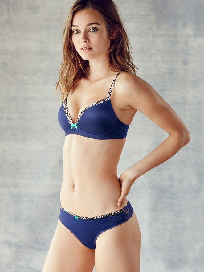 Monika Jagaciak strips to lingerie for Victoria's Secret Lookbook