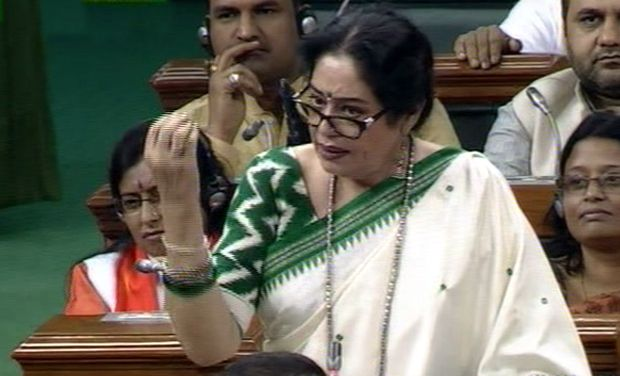BJP MP and popular actress Kirron Kher's speech in Parliament taking on critics of intolerance has gone viral.  Different excepts of the nearly 25 minute speech is being shared by different accounts on social media generating hundreds of thousands of views.