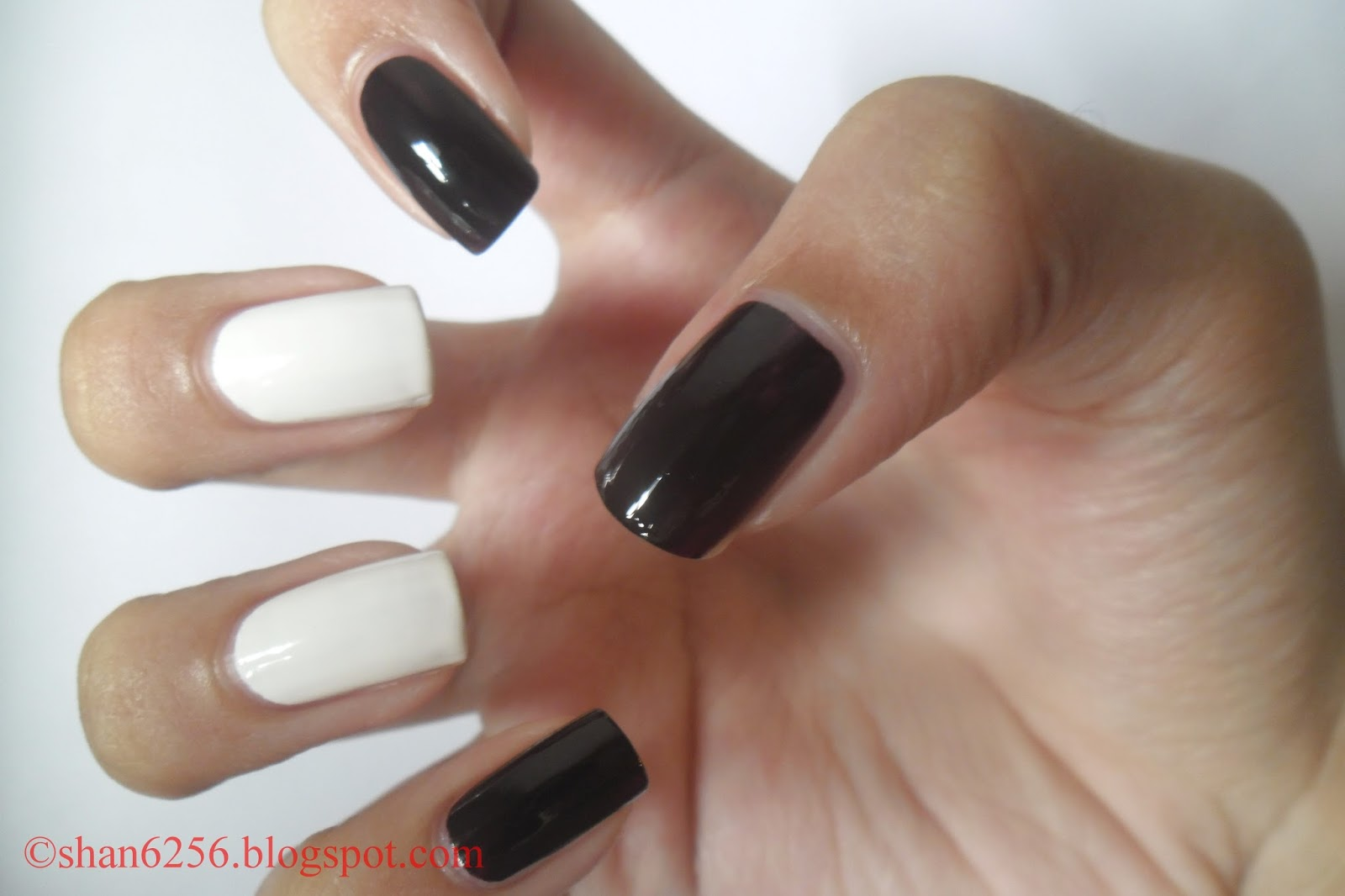 Shannon\'s Nail Art Blog : Tuxedo Nail Art Tutorial