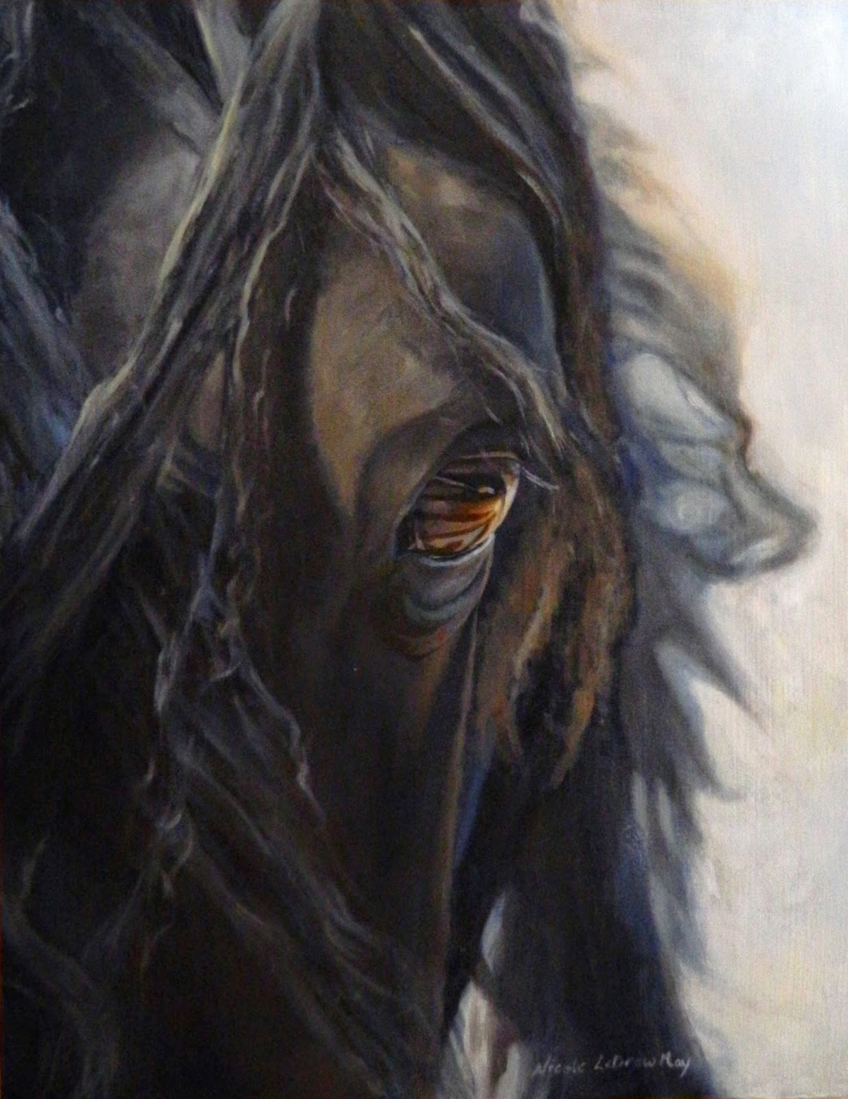 Friesian-horse-painting-black