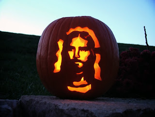 Halloween Pumpkin with Jesus, Kürbis mit Jesus