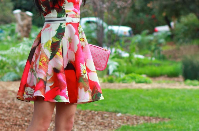 spring summer floral print dress outfit ted baker