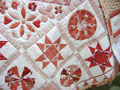 red white quilt; Tribute to Mrs Williams quilt