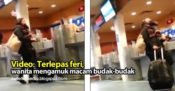 Video: Terlepas feri, wanita mengamuk macam budak-budak