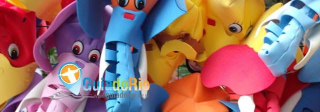 Chapéus de animais para as crianças no Zoológico do Rio