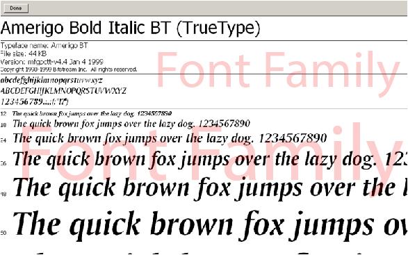 Download free Amerigo Md BT Medium font