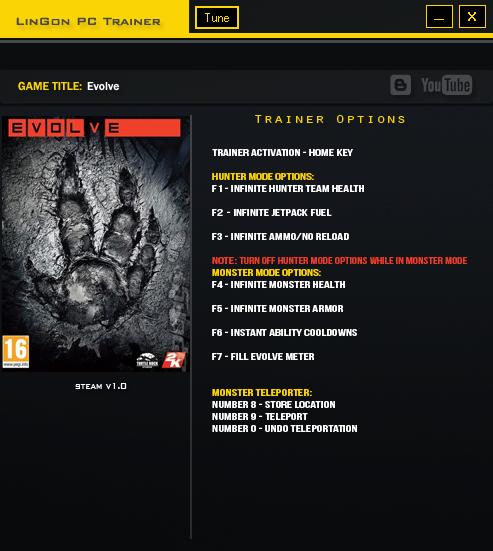 Evolve Trainer Games LinGon