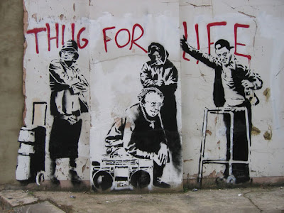 banksy graffiti street art thug for life