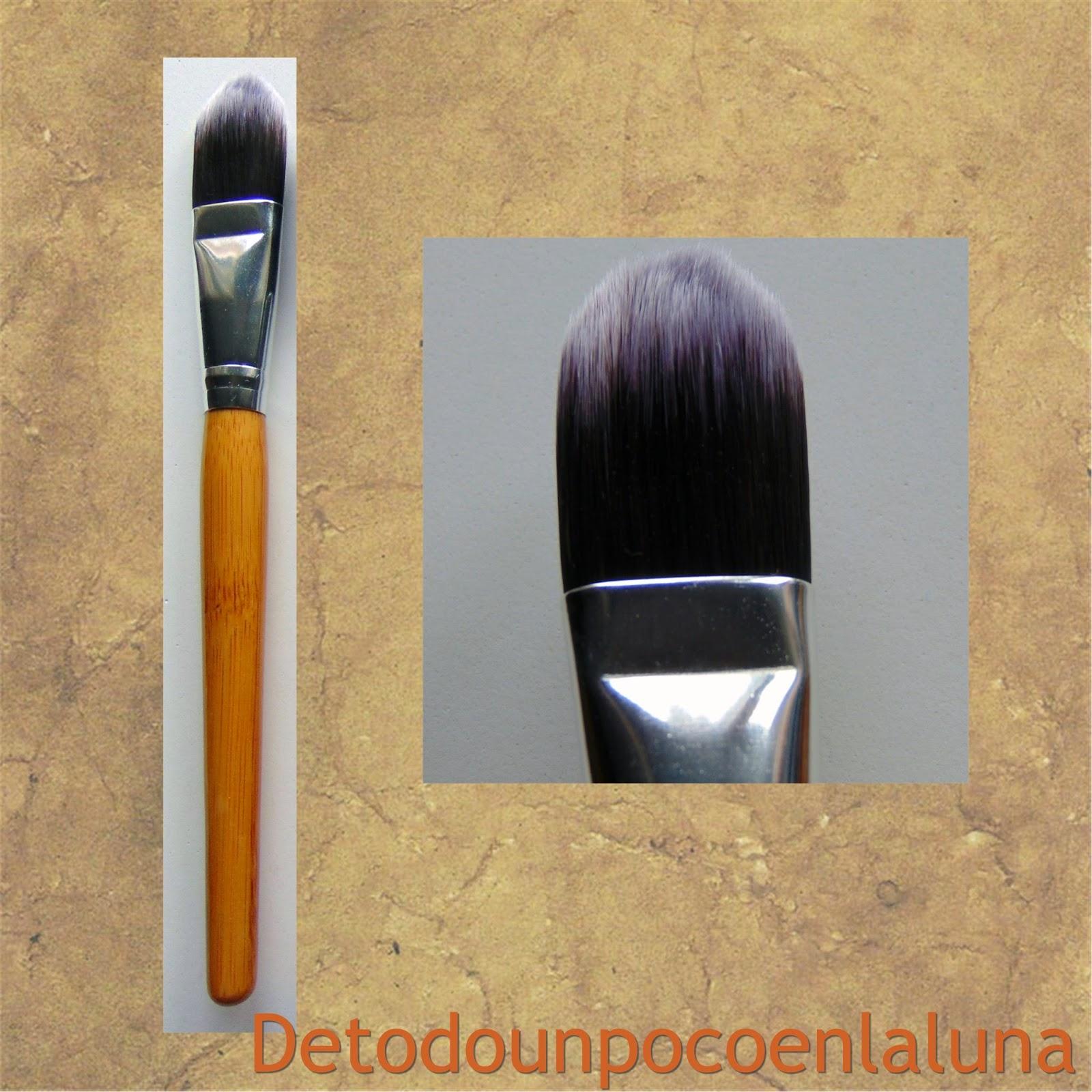 Set 11 brochas de maquillaje de bambú de Buyincoins lengua de gato