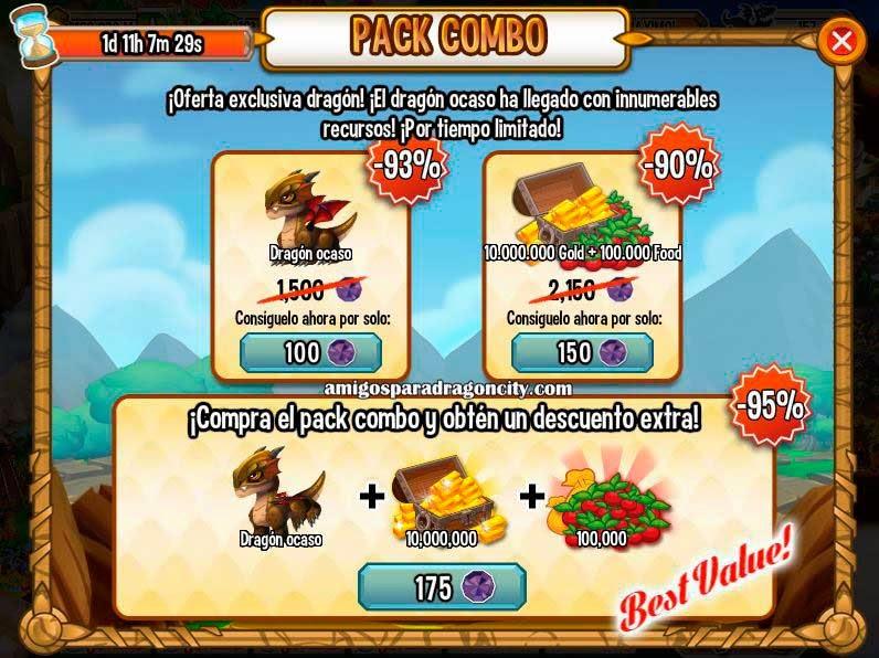 imagen de la oferta especial del dragon ocaso