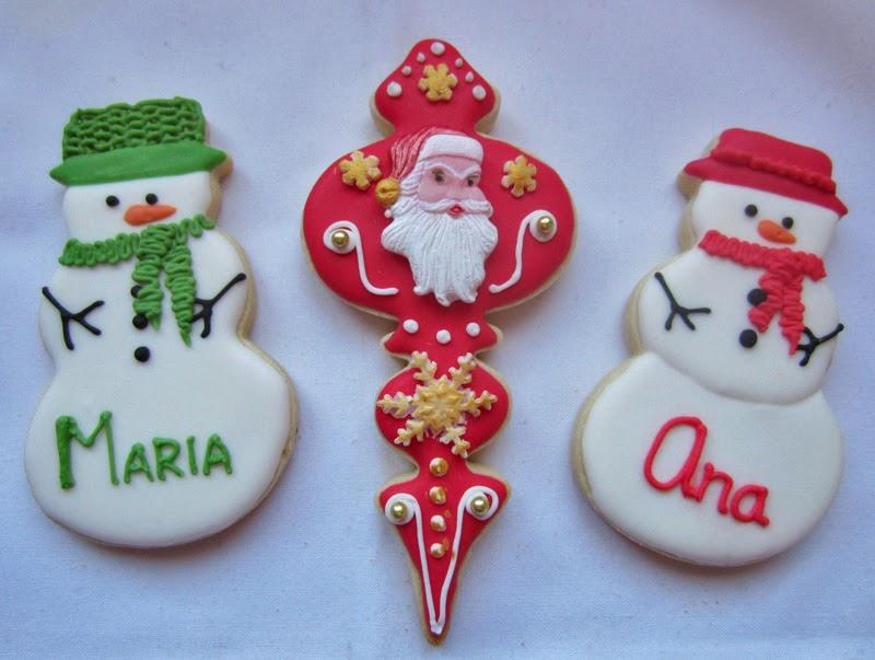 Galletas navidad decoradas con glasa