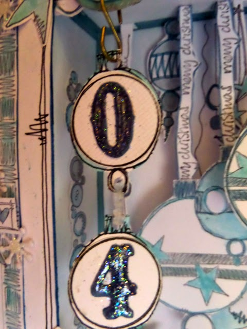 Advent Shadow Frame 7 by Clare Charvill JOFY stamps