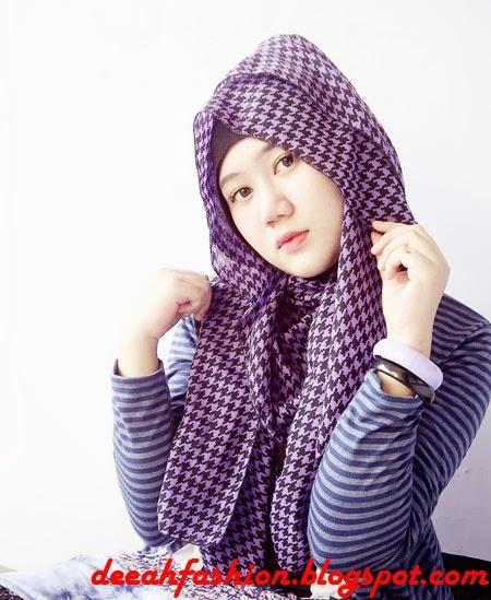 Tips Jilbab Tabrak Motif Play Pattern