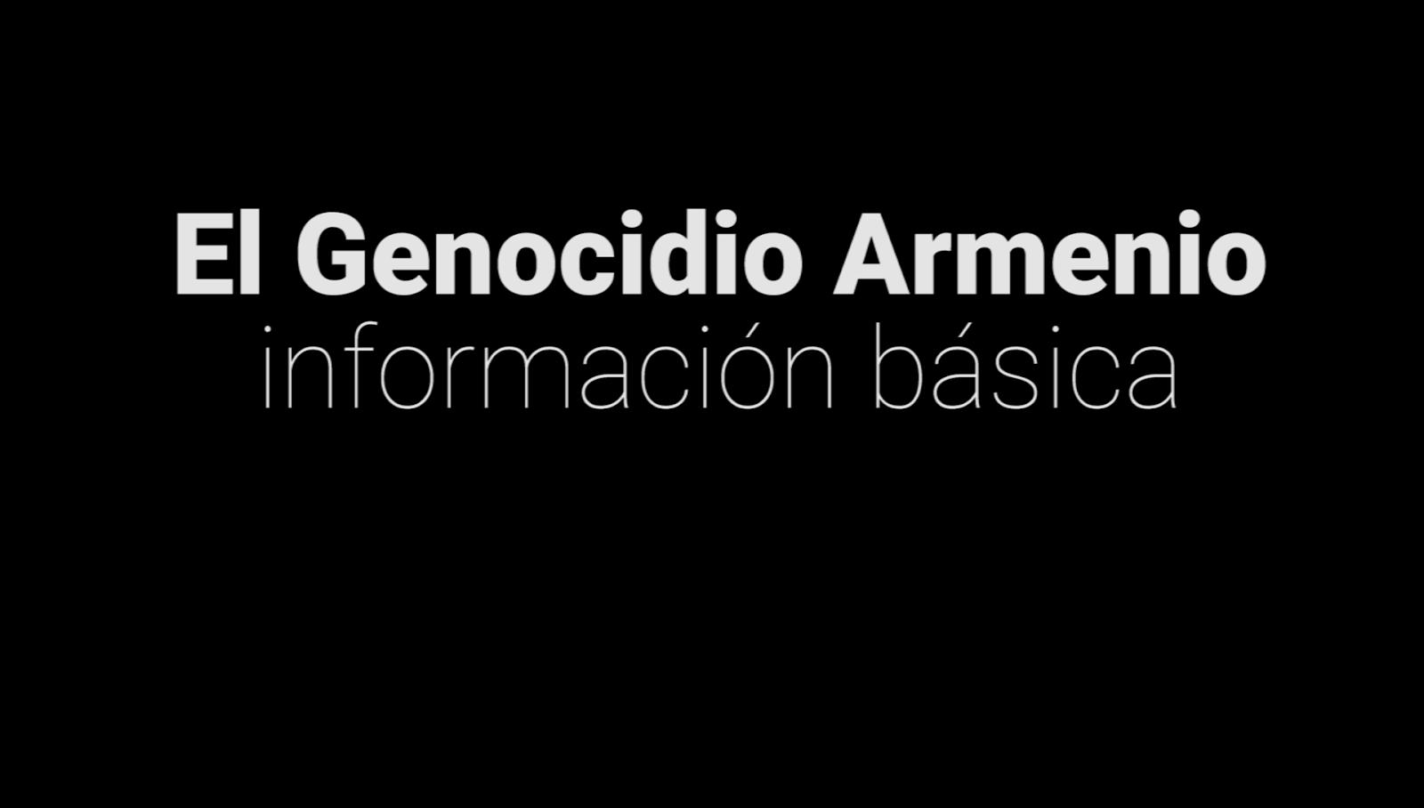 El Genocidio Armenio: información básica