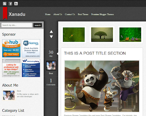 Xanadu Blogger Theme