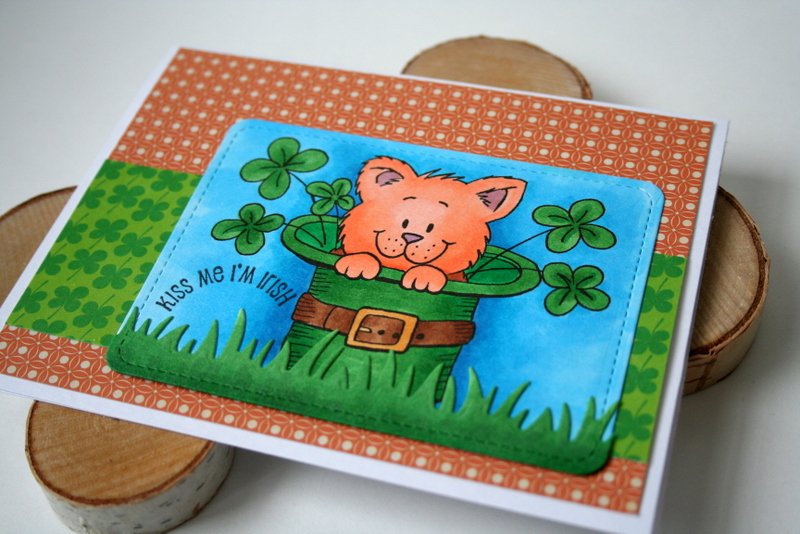 St. Patrick's Day Card by Jess Moyer featuring Gerda Steiner Designs Digital Stamp