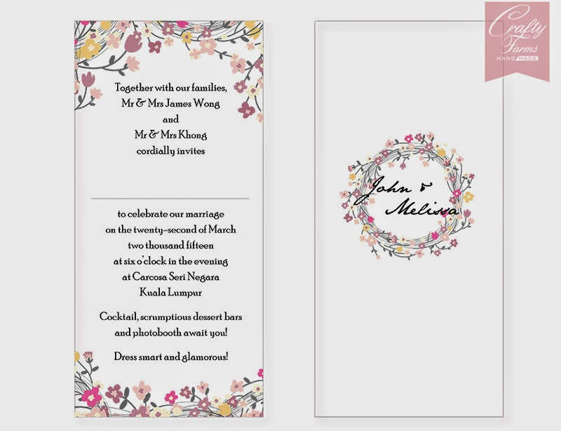 Wedding Invitation Wording Malaysia