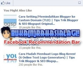 Blogger Facebook Recommendation Bar.