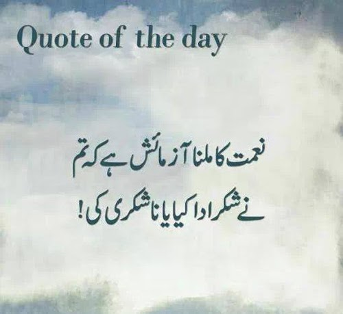 Quote of The Day - Urdu