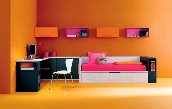 Dormitorios para adolescentes color naranja dormitorios - Habitaciones color naranja ...