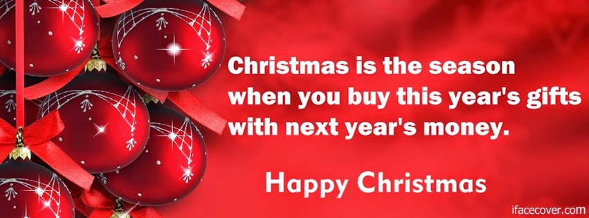 Funny Christmas Money Quote Cover Photo
