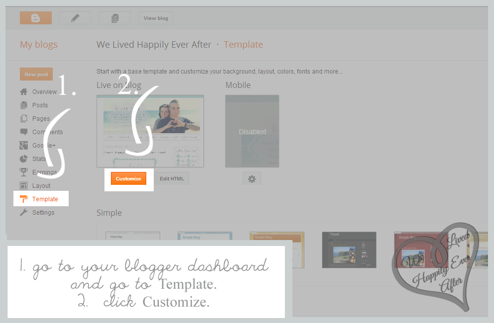 how to go to blogger dashboard