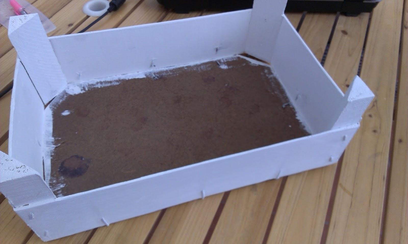 Paso a paso para decorar caja de fresas mi baul de papel - Como decorar cajas de madera paso a paso ...