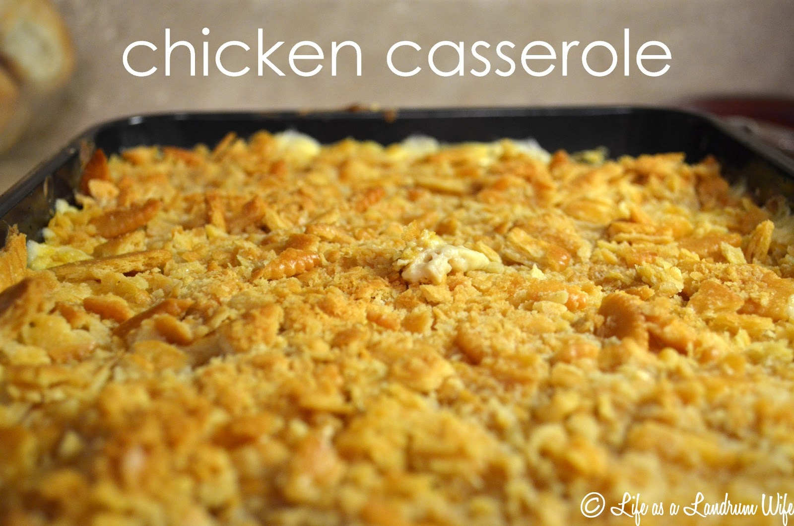... over to enjoy some delicious chicken casserole with my family and me