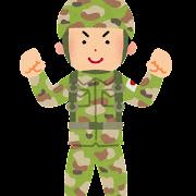 陸上自衛隊員のイラスト(男性)