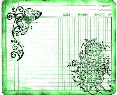 fondo vintage cuaderno de cuentas viejo color verde